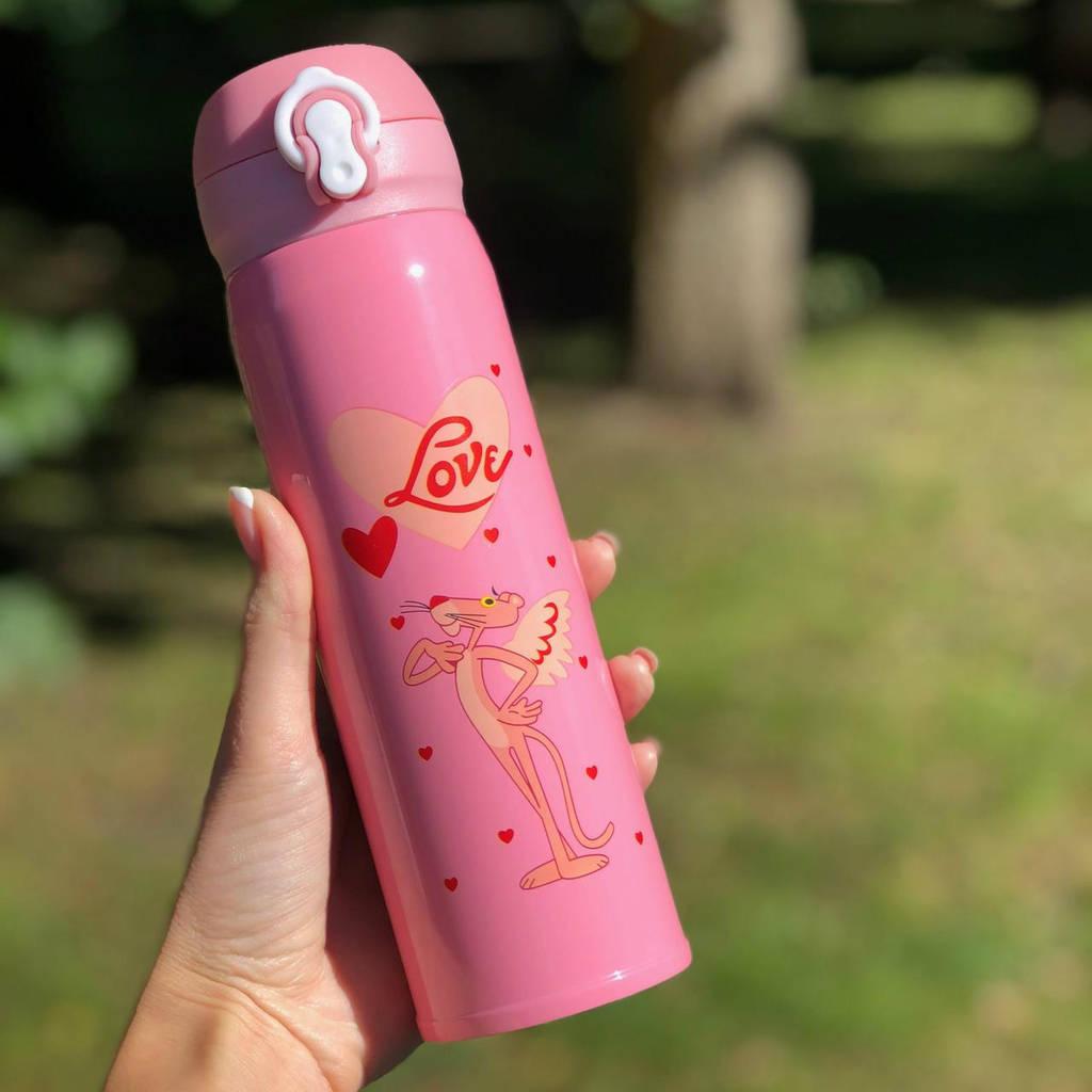 Термос питьевой Розовая Пантера