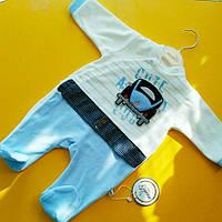 Детский велюровый комбинезон (человечек) для новорожденных 62