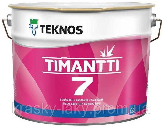 Краска Timantti 7 TM Teknos для влажных помещений матовая, 2.7л
