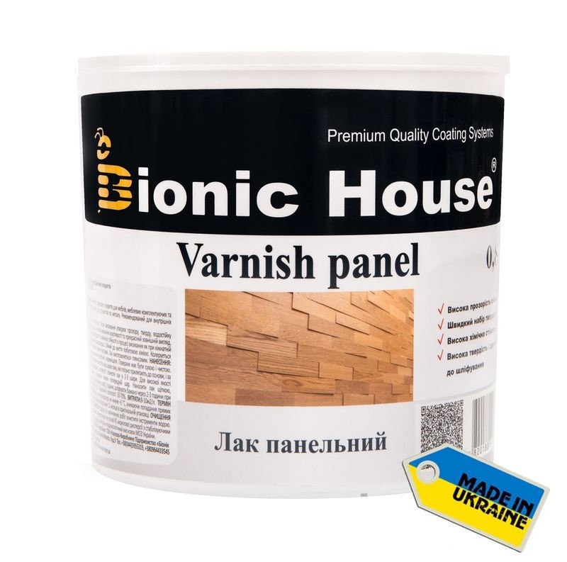 Bionic House Panel Varnish 10л, матовий