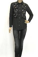 Жіноча сорочка фланель з вишивкою сезон осінь-зима, фото 2