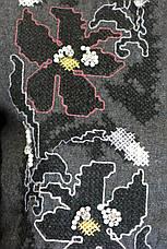 Жіноча сорочка фланель з вишивкою сезон осінь-зима, фото 3