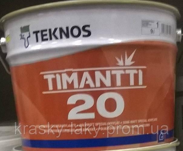 Краска Timantti 20 Тимантти 20 Teknos для влажных помещений, 0.9л.