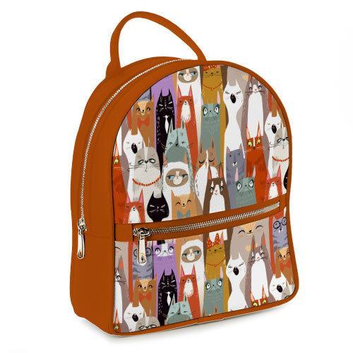 Городской рюкзак Коты 23х30х7 см (ERK_17A088_BR)
