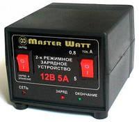 Автоматическое зарядное устройство Master Watt 12V 0,8-5А для авто и мото АКБ