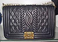 Женская сумка клатч Chanel Boy (Шанель Бой) 9003 черная с бронзой, фото 1
