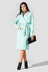 """Пальто женское из кашемира в стиле casual """"Мадрид"""" Mint"""