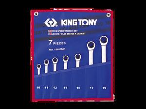 Набор гаечных ключей комби с трещеткой 7шт. (10-19мм)