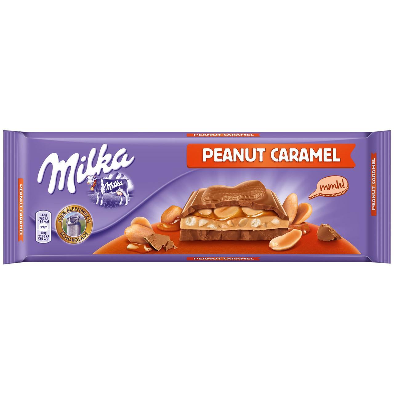 Шоколад Milka Peanut Caramel 300гр. Австрія