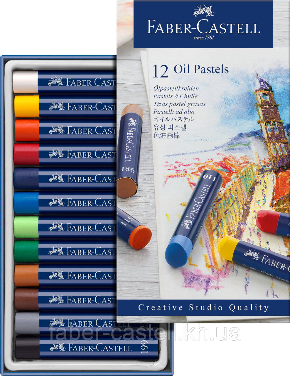 Масляная пастель Faber-Castell Oil Pastels, 12 цветов, 127012