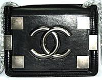 Женская сумка клатч Chanel Boy (Шанель Бой) 9002 черная