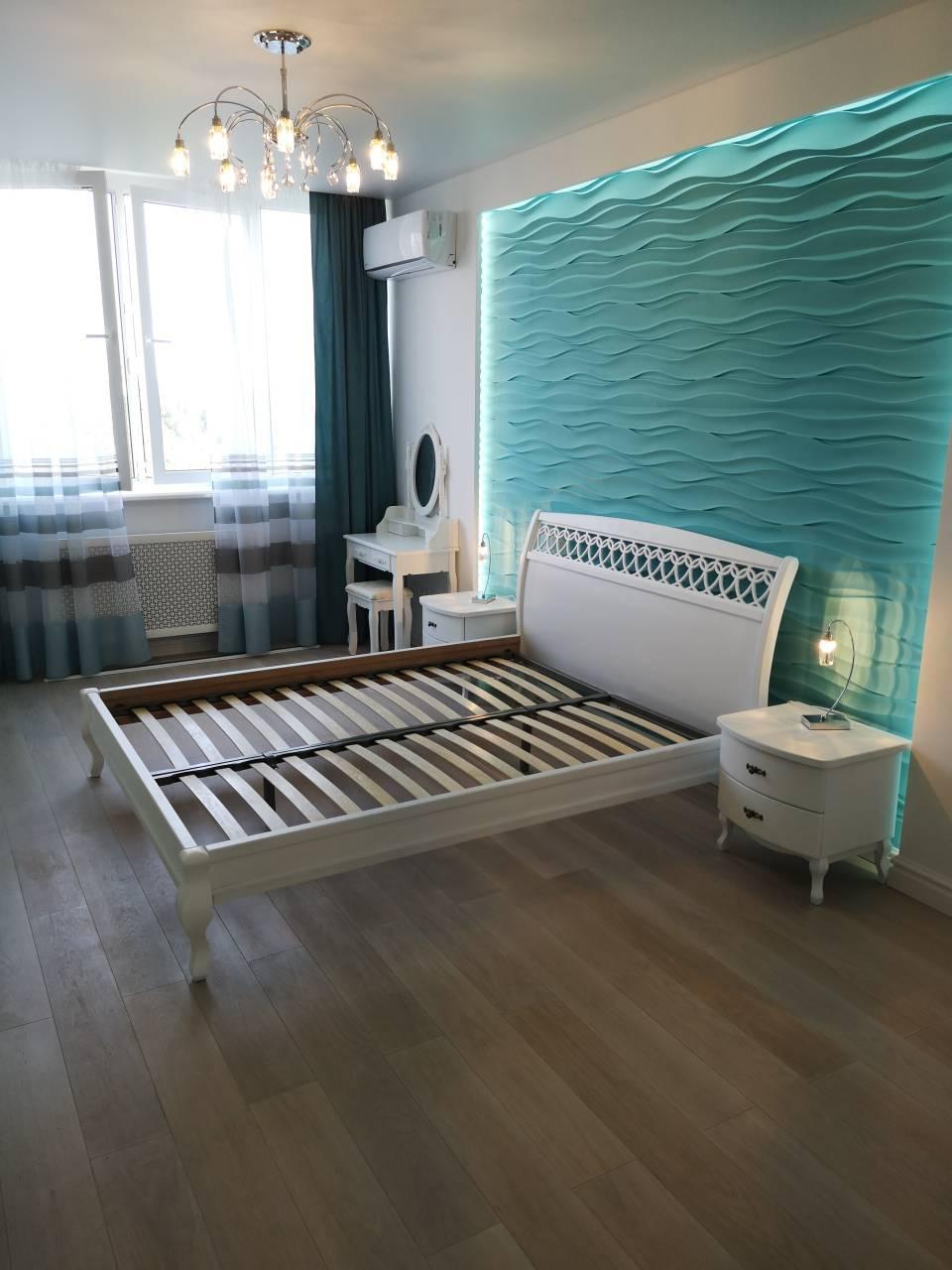 """Кровать Ариэль """"Декор"""" 1,8 м. (изголовье - Н 1000) (цвет белый)"""