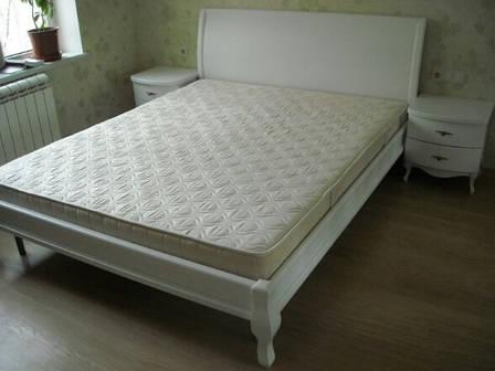 Кровать Ариэль 1,6 м. (изголовье - Н 820) (цвет белый), фото 2
