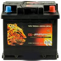 Аккумулятор автомобильный 6СТ-50Ач. 420A G-PARD
