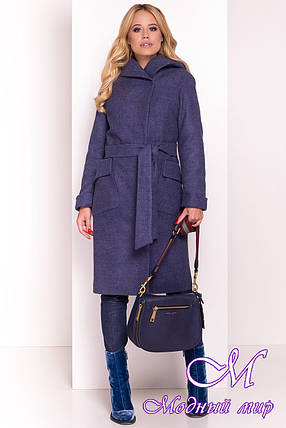Пальто женское с капюшоном и поясом зима (р. S, М, L) арт. Анджи 5476 - 36756, фото 2