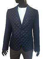 Мужской пиджак №113/1 Твид 25 + стеганка темно-синяя, фото 1