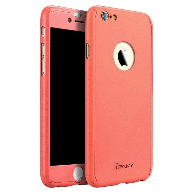 Чехол Ipaky для Iphone 6 / 6s бампер + стекло 100% оригинальный 360 Coral Gloss