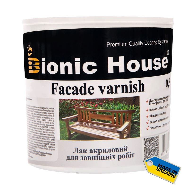 Bionic House Facade Varnish 10л глянцевый