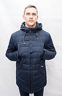 Мужская зимняя куртка парка пуховик большого размера длинная спортивная классика