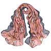 Женский розовый шарф с рисунком в виде часов