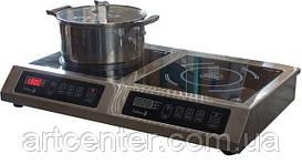 Плита 710*445*110 мм. 2-х конфорочная индукционная (настольная) 2,2 кВт.