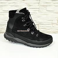 Ботинки мужские кожаные спортивного стиля, натуральная кожа и нубук. 41 размер