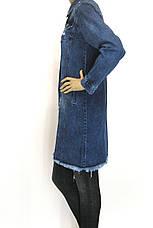 Жіночий  джинсовий плащ  напівбатал, фото 2