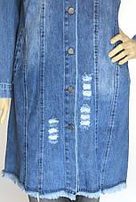 Жіночий  джинсовий плащ  напівбатал, фото 3