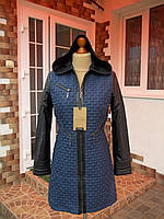 (46р) Стеганная куртка пальто плащ