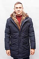 Мужская зимняя куртка парка Аляска пуховик тёплая с мехом длинная на верблюжьей шерсти