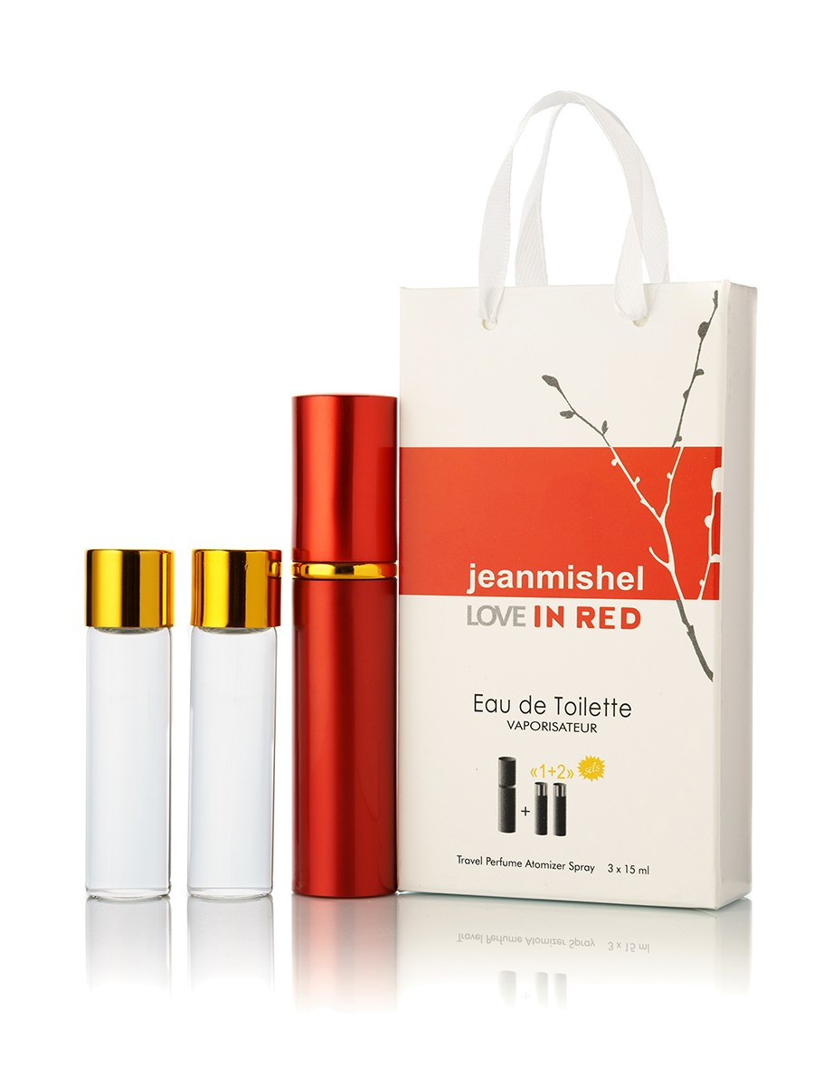 3 по 15 мл Мини-парфюм  JEANMISHEL LOVE IN RED  (ж) - 1