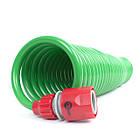 Шланг для полива спиральный 7,5 м с конекторами INTERTOOL GE-4001, фото 7