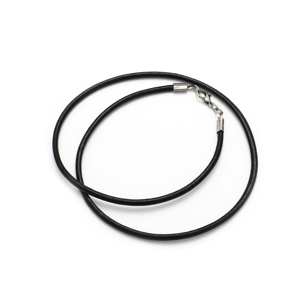 Шнурок кожа 50см 3мм (черный)