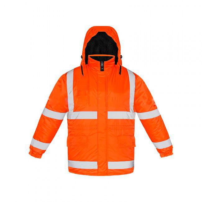Куртка утепленная оранжевого цвета с СОП. Рабочая спецодежда