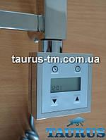 Квадратный электроТЭН с экраном + регулятор + таймер (Польша) хром, для полотенцесушителя TAURUS