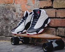 Мужские осенние кроссовки Nike Air Jordan Black Cat Black / White топ реплика, фото 3