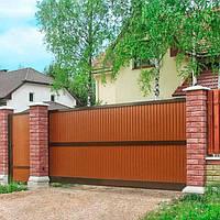Откатные ворота Alutech 3000x2460, фото 1