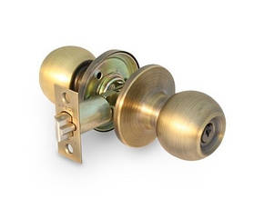Ручка защелка Apecs 6072-01-AN с фиксацией + ключи (Антик)