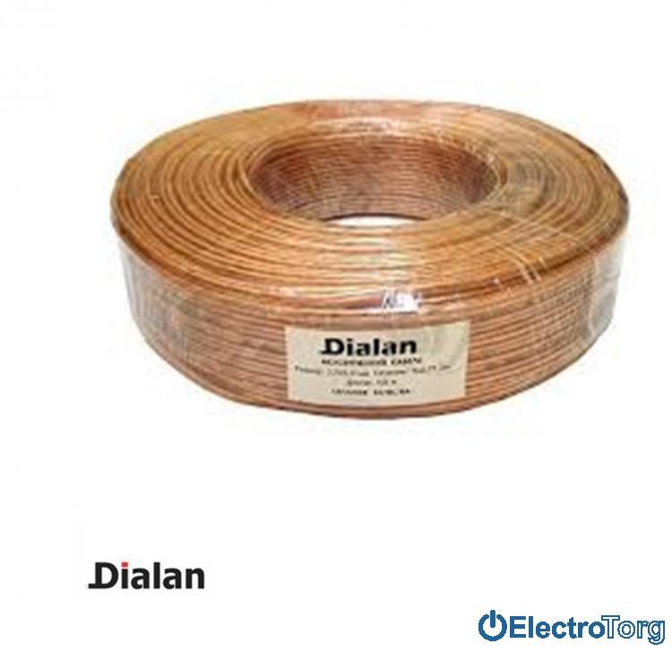 Акустический кабель CCA 2х0.5 Dialan (Диалан)