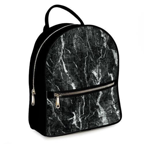 Міський рюкзак Чорний мармур 23х30х7 см (ERK_17A020_BL)