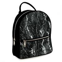 Міський рюкзак Чорний мармур 23х30х7 см (ERK_17A020_BL), фото 1