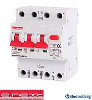 Выключатель дифференциального тока с защитой от сверхтоков 40А, характеристика С, тип А, e.rcbo.pro.4.С40.30, 3P+N  E.NEXT(Енекст)