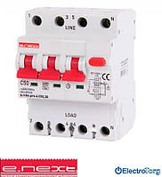 Выключатель дифференциального тока с защитой от сверхтоков 50А, характеристика С, тип А, e.rcbo.pro.4.С50.30, 3P+N  E.NEXT(Енекст)