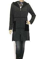 Жіноче пальто кардиган з капюшоном щільної вязки 4cbc45d479b49