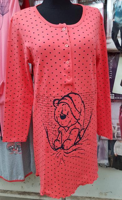 Женская ночная рубашка №1801 длинный рукав