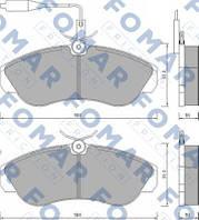 Колодки тормозные передние Citroen Jumper 94-01; Ducato 99-01; Boxer 94-99 Fomar