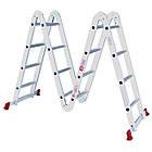 Лестница алюминиевая мультифункциональная трансформер 4x4 ступ. 4,62 м INTERTOOL LT-0029, фото 10