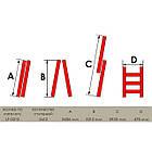 Лестница алюминиевая 2-х секционная универсальная раскладная 2x12 ступ. 5,93 м INTERTOOL LT-0212, фото 3