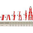 Лестница алюминиевая 3-х секционная универсальная раскладная 3x9 ступ. 5,93 м INTERTOOL LT-0309, фото 4