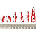Лестница алюминиевая 3-х секционная универсальная раскладная 3x11 ступ. 7,33 м INTERTOOL LT-0311, фото 4